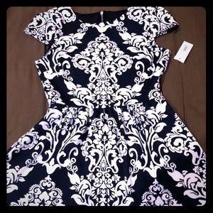 B Darlin Women's Dress 👗 blue with design 15/16